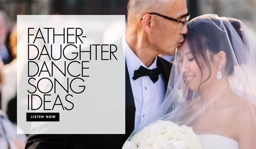 father daughter dance song ideas wedding music reception ideas