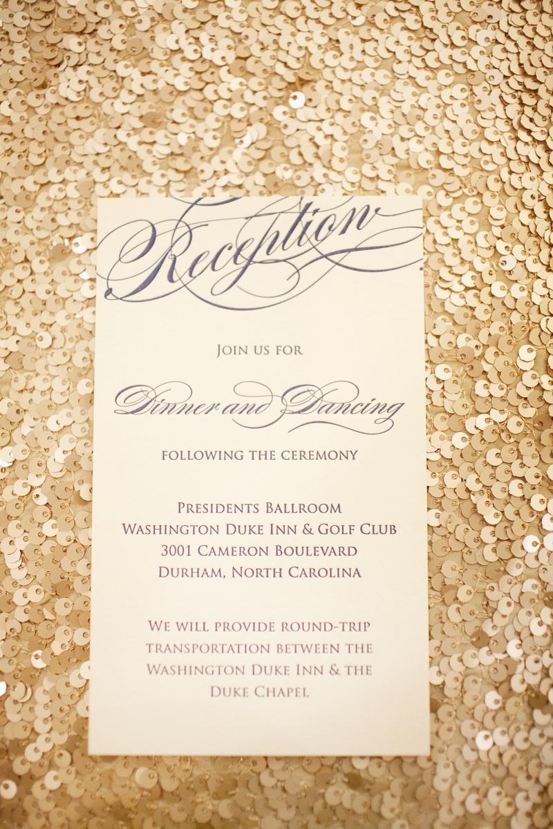 Invitations & More Photos - Elegant Reception Card - Inside Weddings