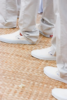 Male Vans Slip-On shoes in ivory