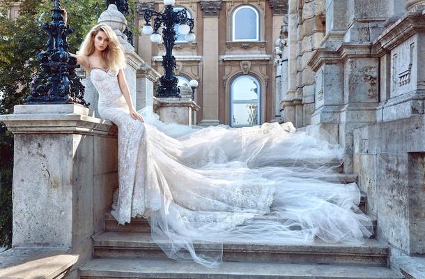 Galia Lahav Fall 2016 Lace Wedding Dress With Beaded Neckline