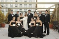 Chicago wedding with formal attire bridesmaids and groomsmen