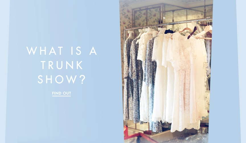 What is a Trunk Show wedding information