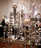 Elegant light fixture embellished with crystals