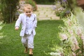 ring bearer stomps down the aisle, funny