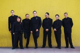 Brandon Saller, drummer of Atreyu, with his groomsmen