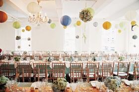 Loft Eleven NYC reception hall with paper lanterns