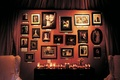 Wedding reception displays photos of the bride and groom's families