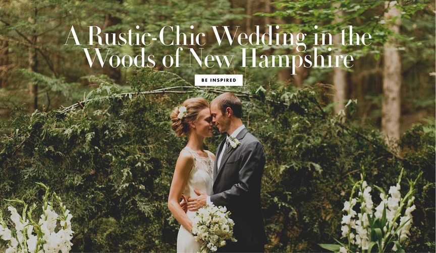 rustic chic new hampshire forest woods wedding high school sweethearts childhood couple model DIY