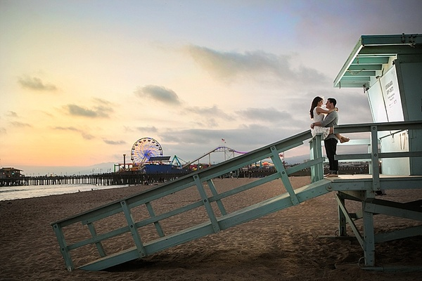 Santa Monica Pier Engagement Session