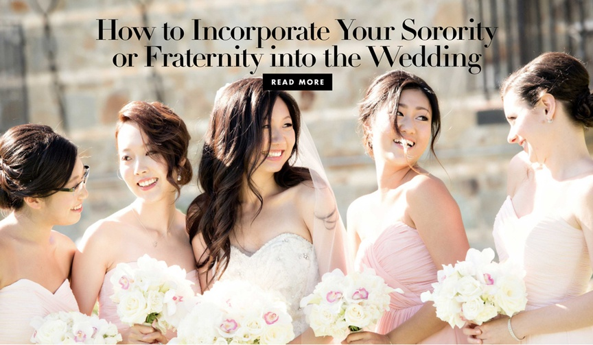 How to incorporate your sorority or fraternity into the wedding greek life