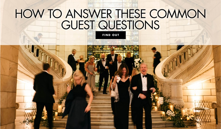 FAQs from wedding guests, FAQs for your wedding website