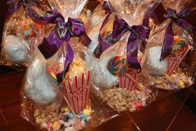 County fair wedding favor with popcorn, cotton candy, and peanuts