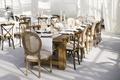 Rustic-elegance decor with mismatched furniture