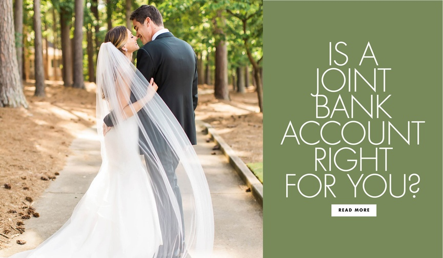 Find out if you should have a joint bank account after marriage.