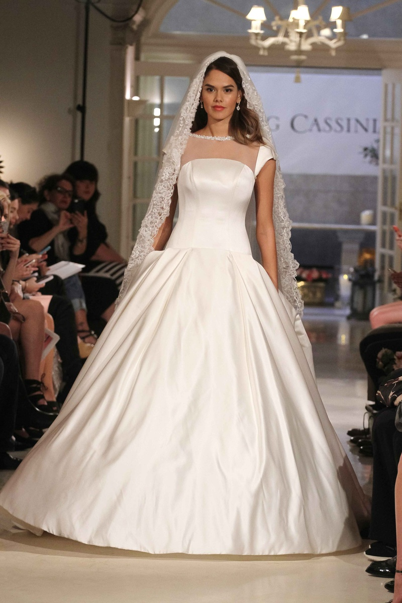 Wedding Dresses Photos - Oleg Cassini Drop-Waist Ball Gown - Inside ...