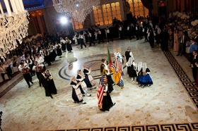 Wedding reception with a Portuguese dance troupe