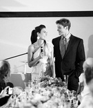 Bride-to-be gives speech at rehearsal dinner