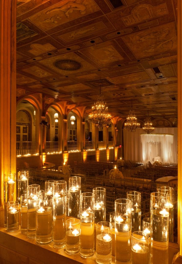 wedding reception places in twin cities%0A     Hurricane vases with floating candles for ballroom ceremony