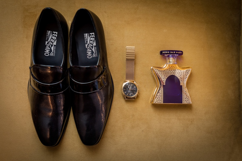 Grooms Groomsmen Photos Mens Dress Shoes With Watch And Cologne
