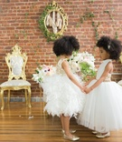 pantora mini flower girl dresses, black child models with natural hair in flower girl dresses