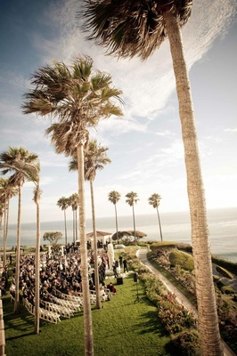 The Ritz-Carlton, Laguna Niguel wedding on lawn
