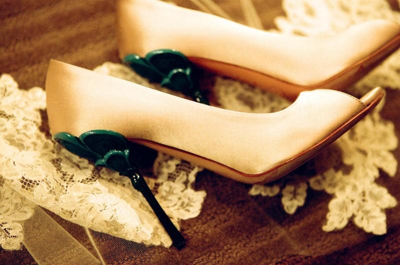 4473fda67f89 Shoes + Bags Photos - Something Blue Wedding Shoe Heels - Inside Weddings