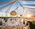 Rooftop wedding reception at The London West Hollywood with Los Angeles skyline views