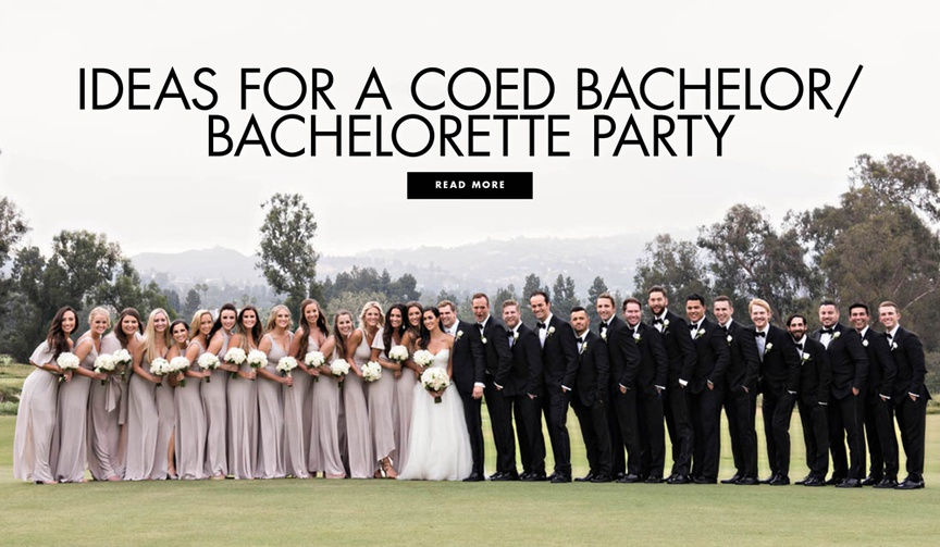 ideas for a coed bachelor or bachelorette party ideas