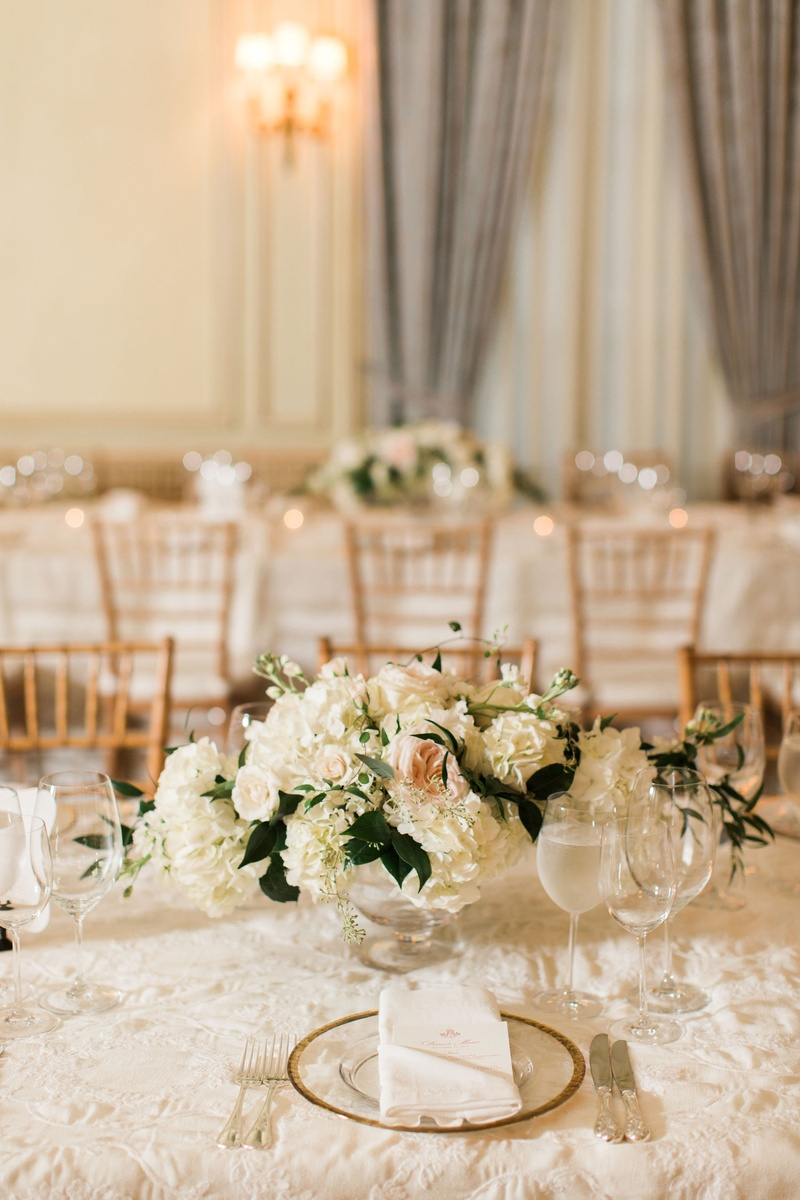 Reception Décor Photos - Long Tables with Small Centerpieces ...