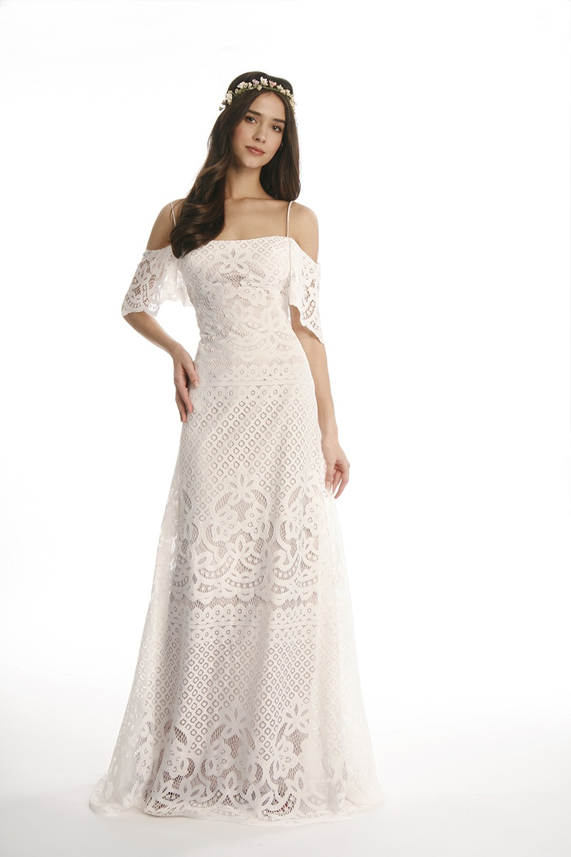 Wedding Boho Chic Wedding Dress wedding dresses joy collection by eugenia couture spring 2017 farrah lace dress with off shoulder sleeves