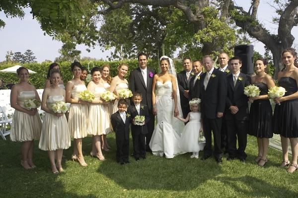Bridesmaids, groomsmen, ring bearers, and flower girl