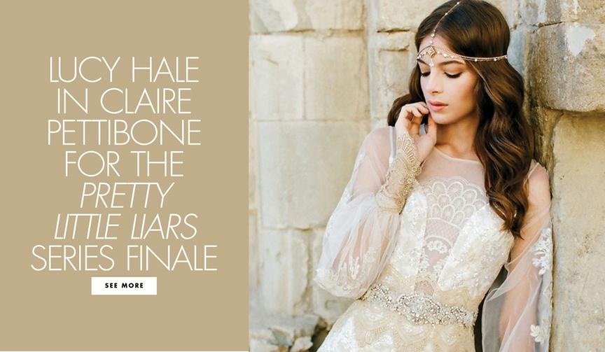 lucy hale aria montgomery claire pettibone wedding dress ariel pretty little liars freeform finale