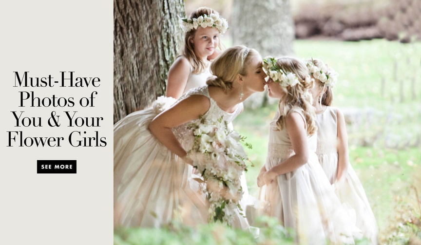 Cute photos of brides with their flower girls