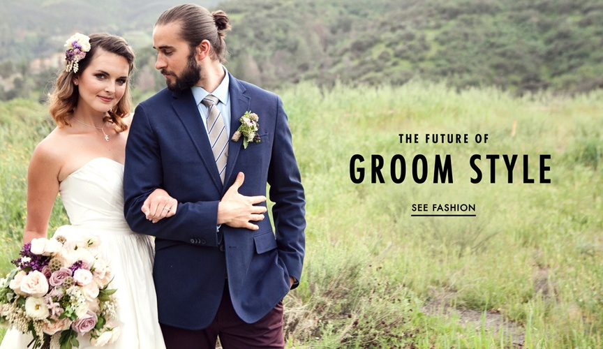 See fashion-forward options for grooms who want to stand out.