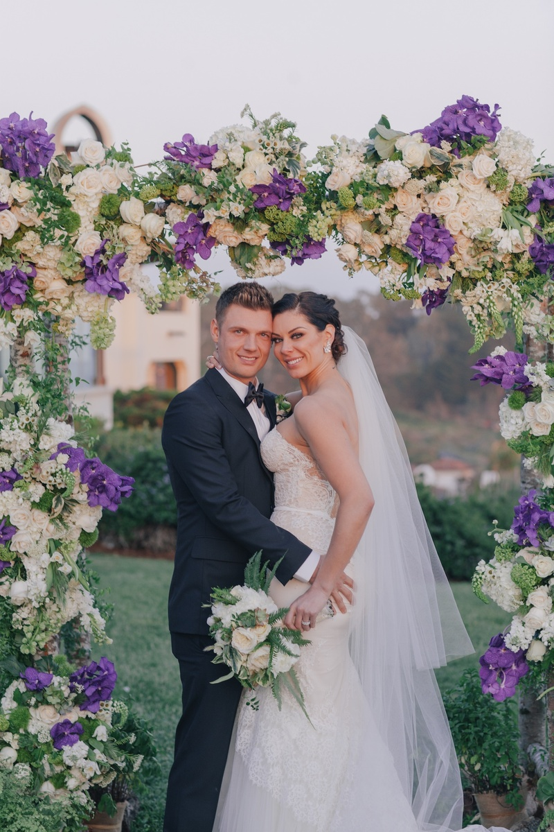 Nick Carter and Lauren Kitt's wedding day picture