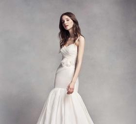 WHITE by Vera Wang fall 2016 mermaid wedding dress with tank straps draped bodice drop waist