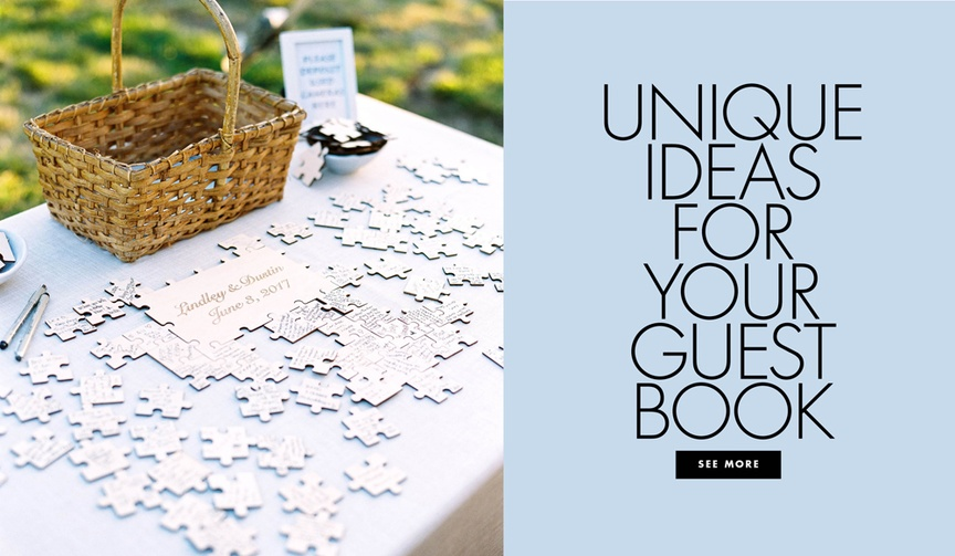 Unique ideas for your guest book wedding guestbook ideas