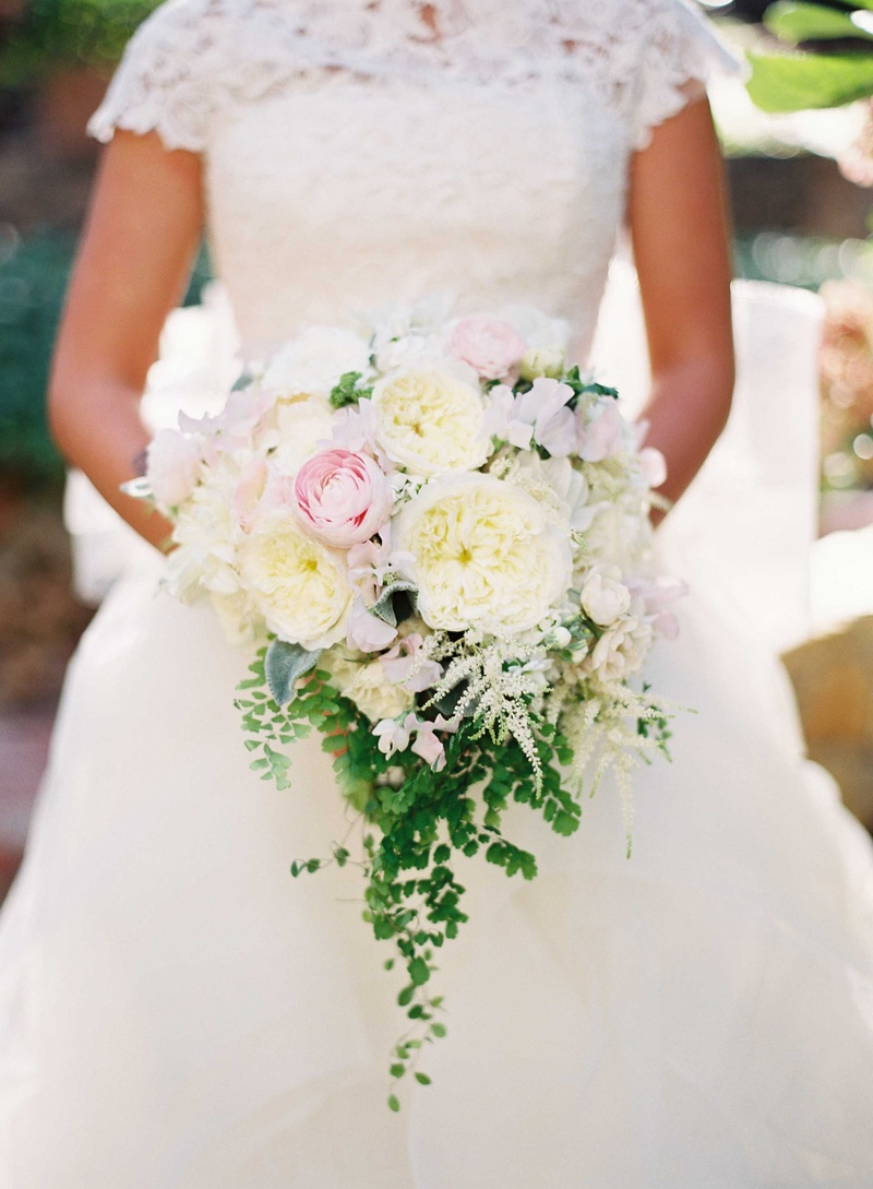 Bouquets Photos - Romantic Peony & Garden Rose Bouquet - Inside Weddings