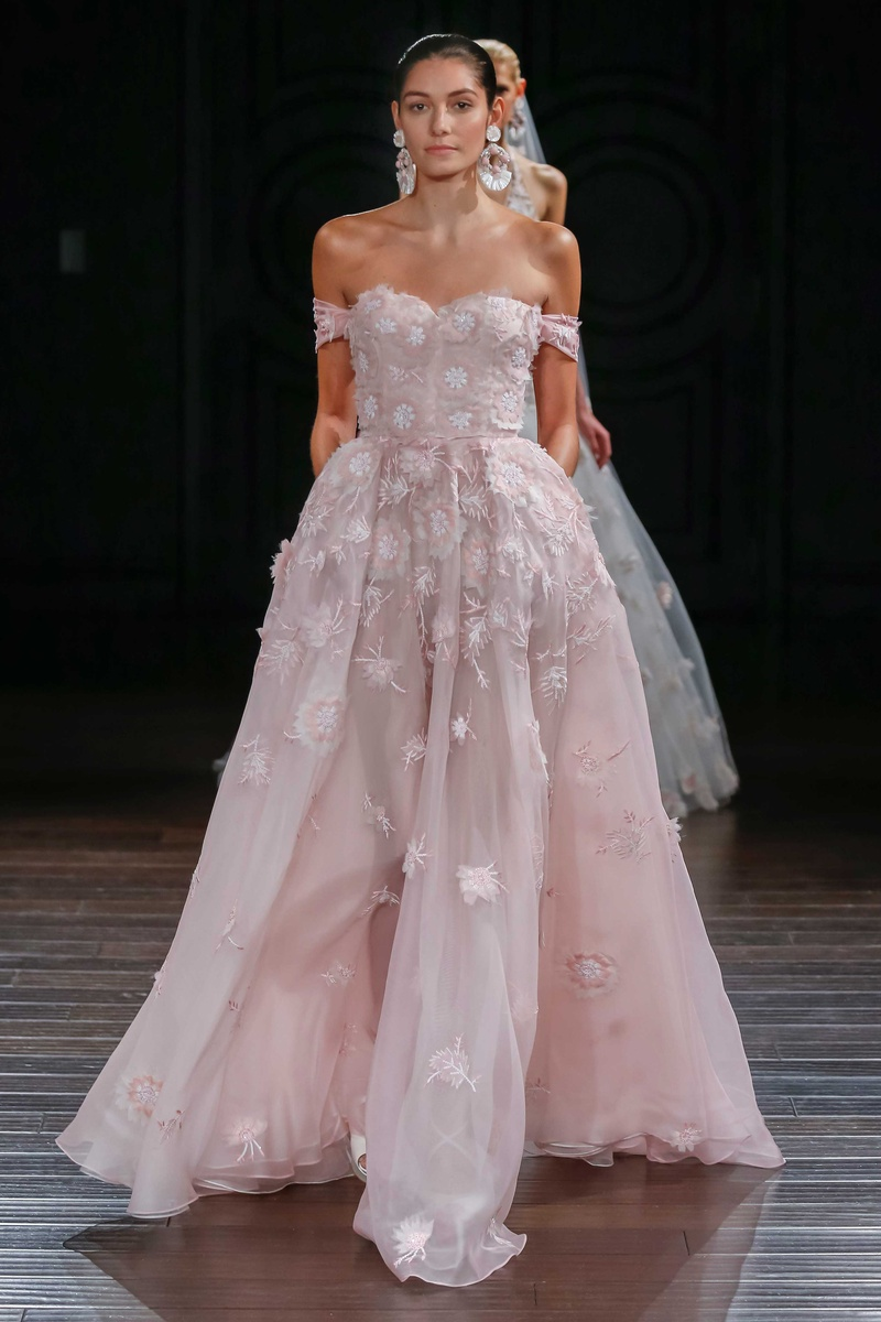 Wedding Dresses Photos - Blush Ball Gown, Off-The-Shoulder Straps by ...