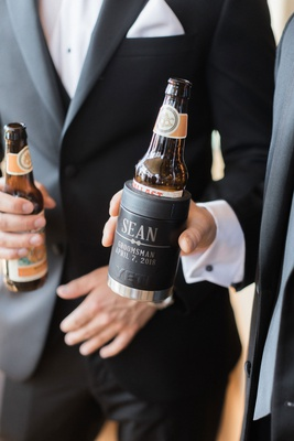wedding gift idea for groomsmen customized yeti beer coolers koozies