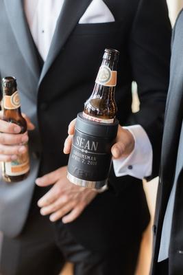 wedding gift idea for groomsmen customized yeti beer coolers koozies