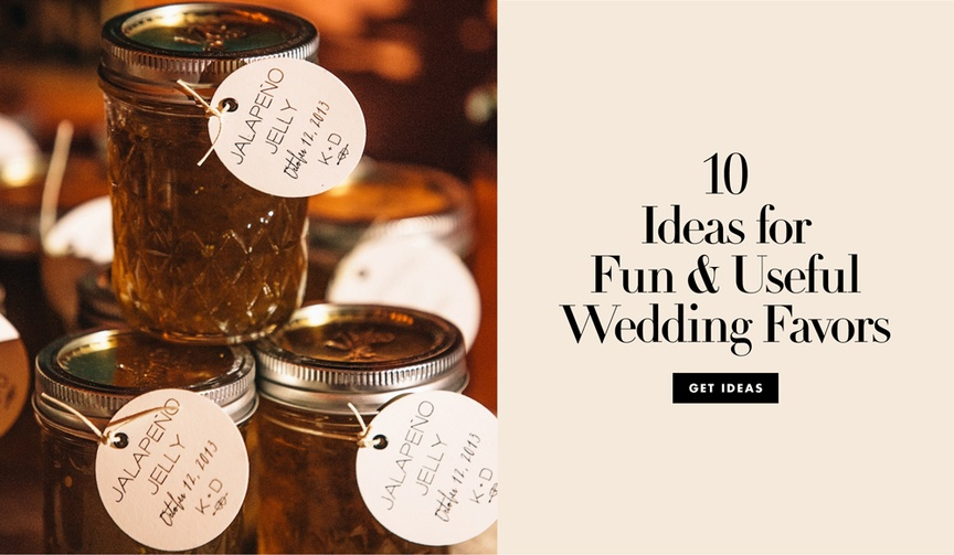 10 ideas for fun and useful wedding favors that guests will love
