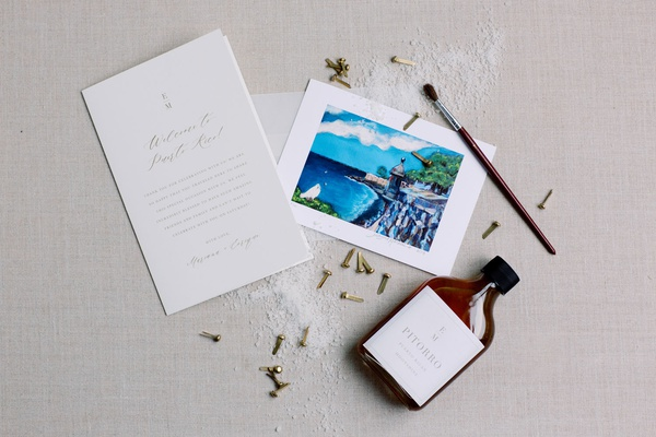 wedding favor for mariana paola vicente and kike hernandez wedding favors glicee painting by mob