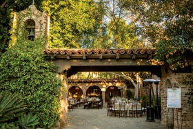 hummingbird next ranch wedding reception sitting bull ranch house with cobblestone courtyard