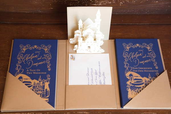 pop-up book for ceremony program with bilingual programs