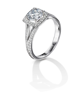 Furrer Jacot 53-66761-0-W white gold engagement ring