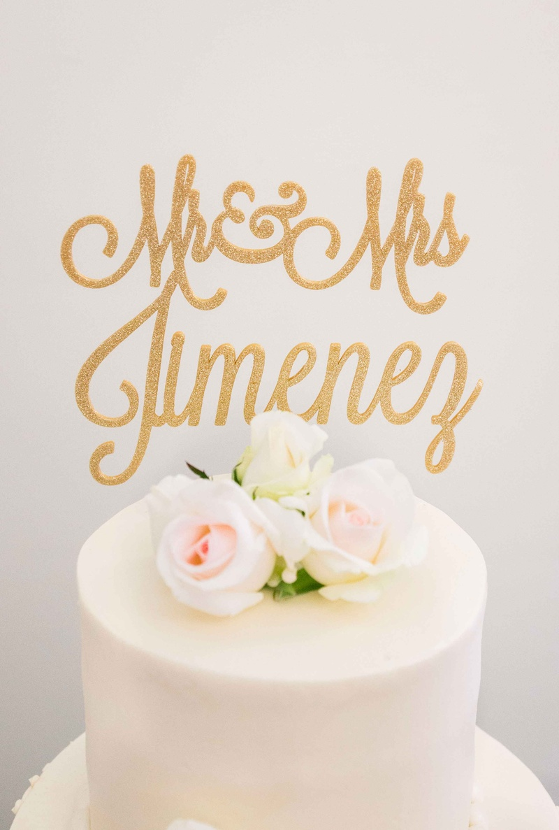 Cakes & Desserts Photos - Custom Cake Topper with Last Names in Gold ...