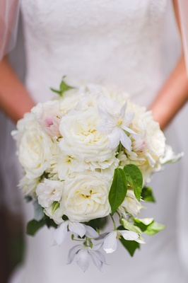 white rose bridal bouquet