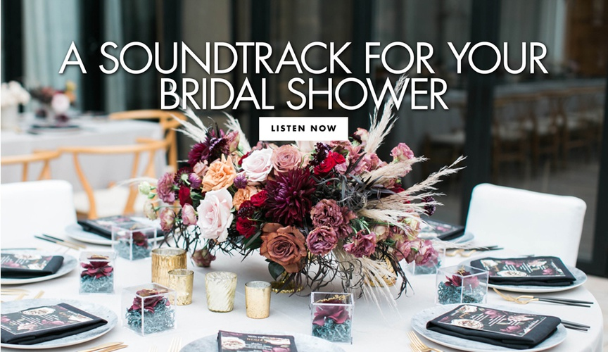hip, edgy bridal shower, playlist for your bridal shower