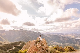 malibu rocky oaks wedding portrait, santa monica mountains